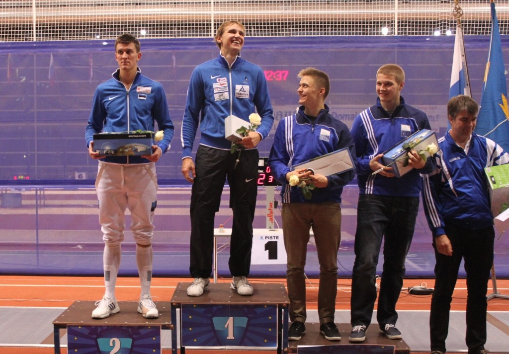 Nikolai Novosjolov won in Turku in 2013. Teemu Seeve from Turku Fencing Club won bronze